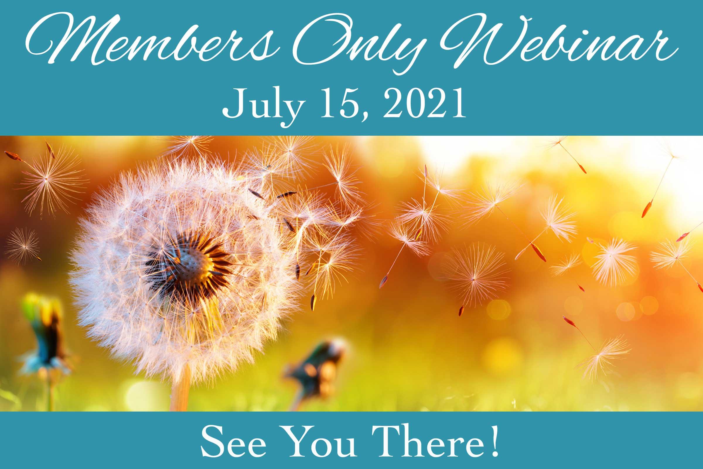 July 2021 Members Only Webinar